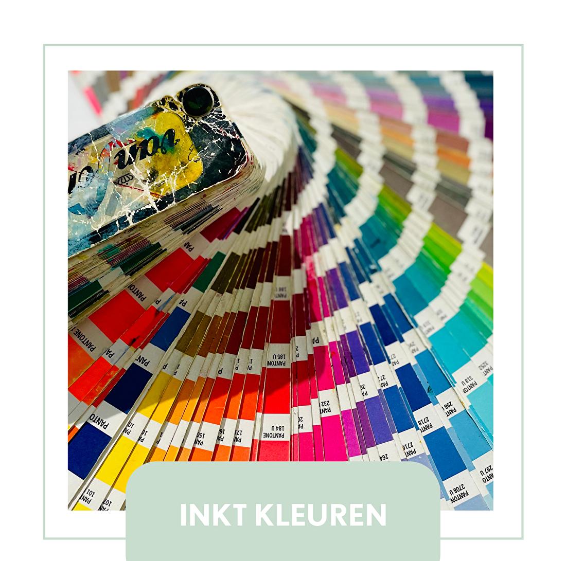inktkleuren letterpress, pantone, PMS, uncoated
