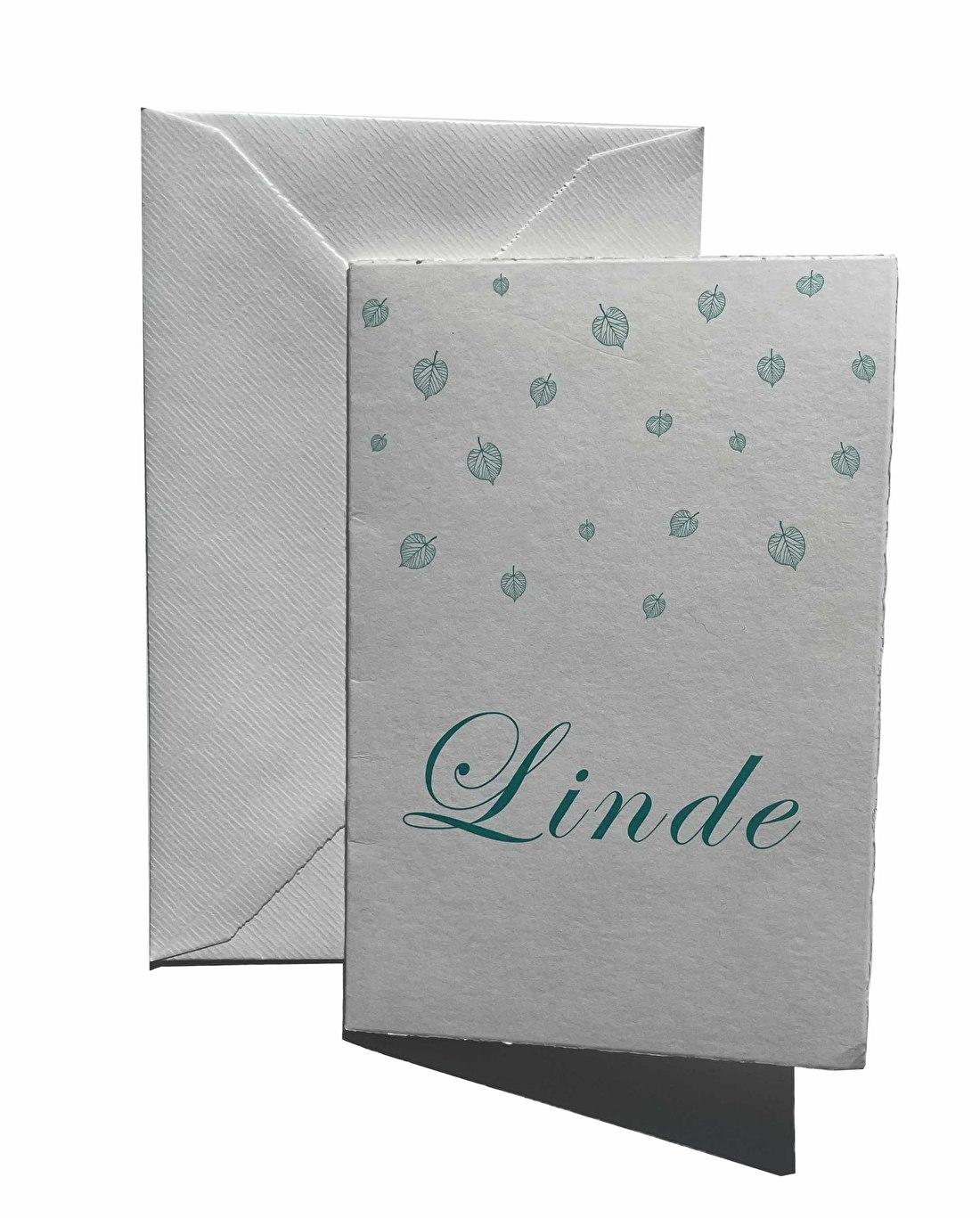 Geboortekaartje, letterpress, meisje, goedkoop, Linde