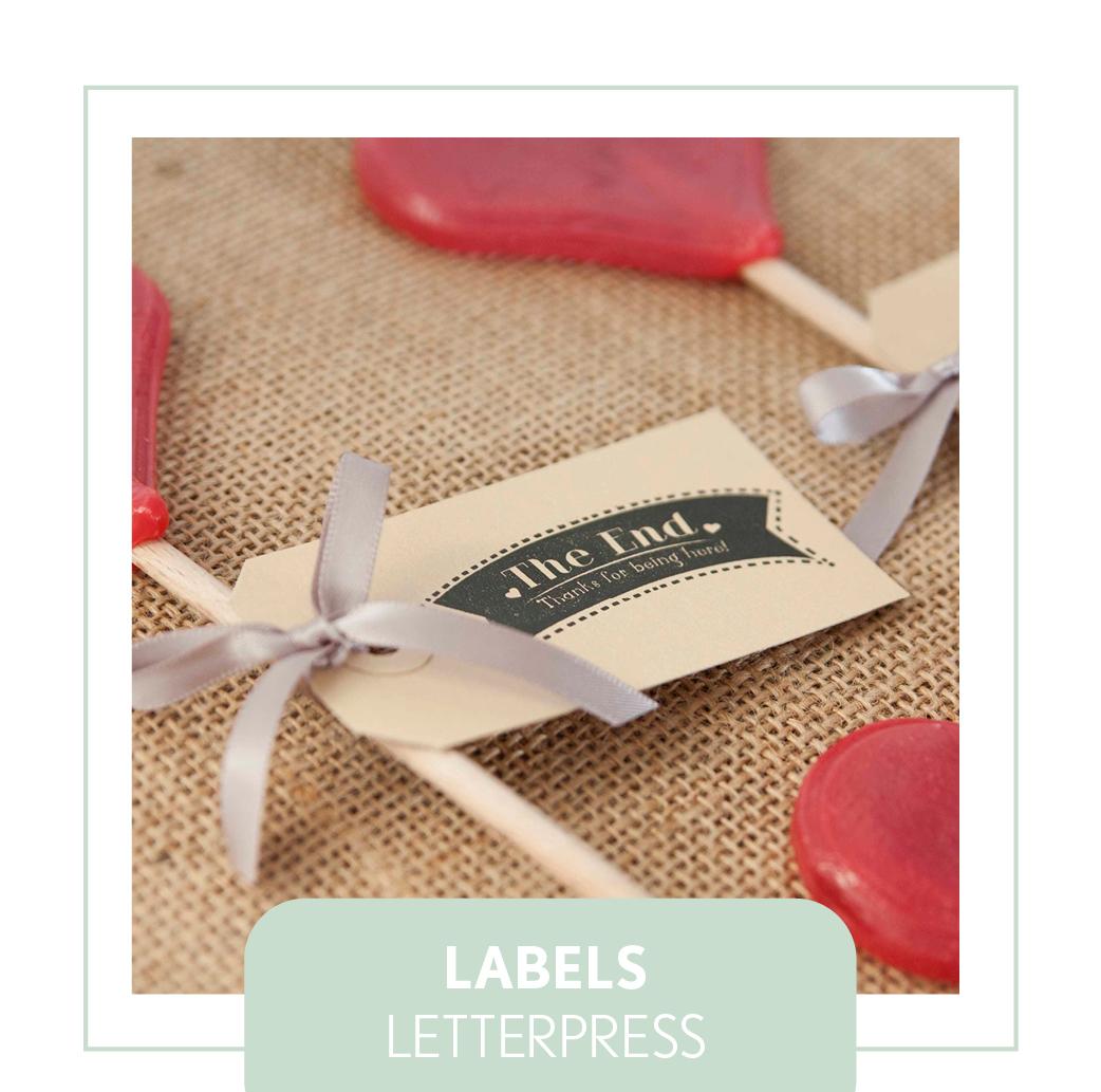 labels letterpress trouwen bedankjes goedkoop uniek