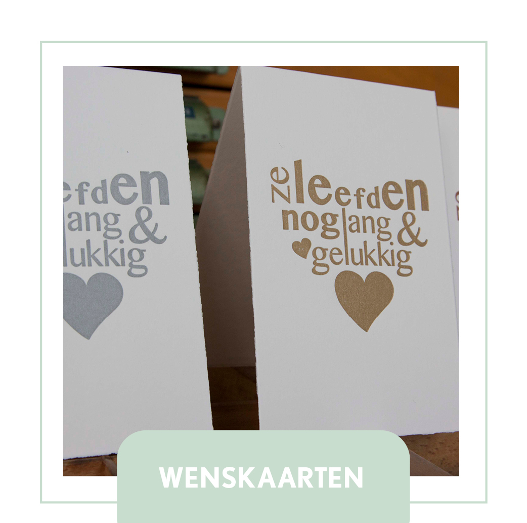 wenskaarten bruiloft huwelijk trouwen letterpress goedkoop