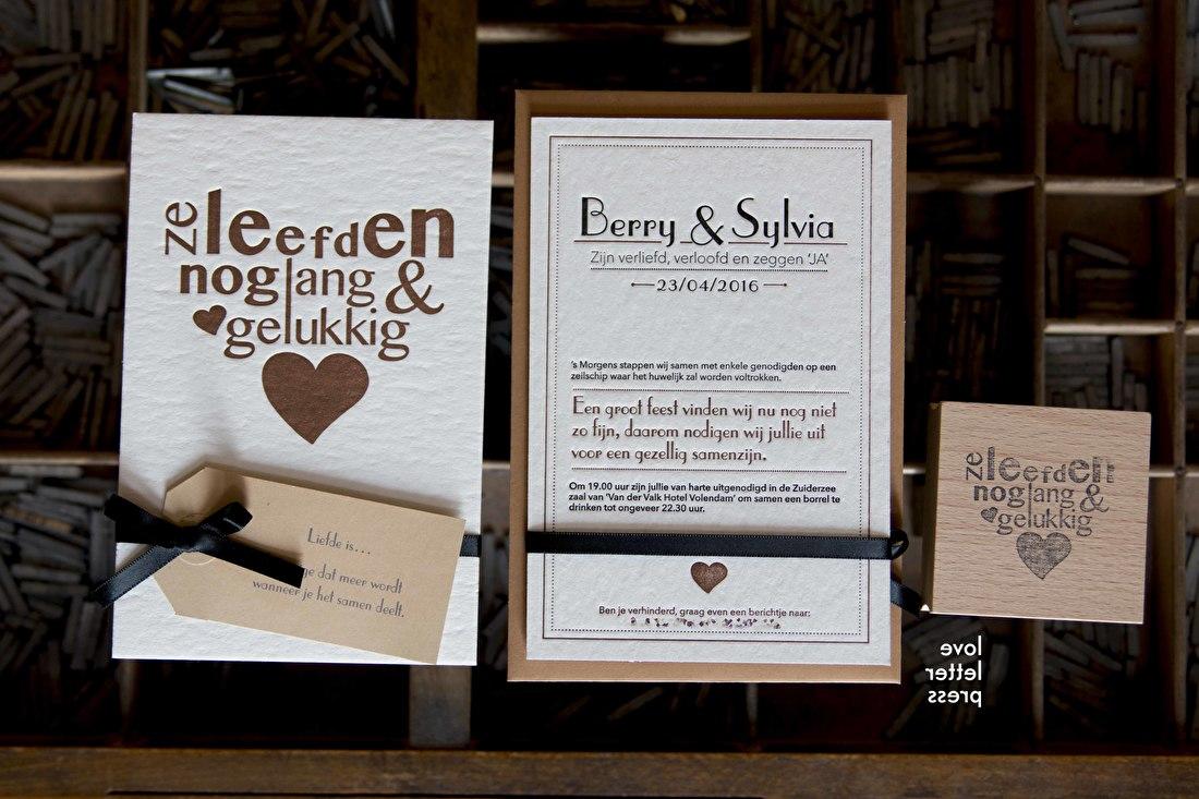 Ze leefden nog lang en gelukkig trouwkaart stempel trouwen bruiloft liefde goedkoop
