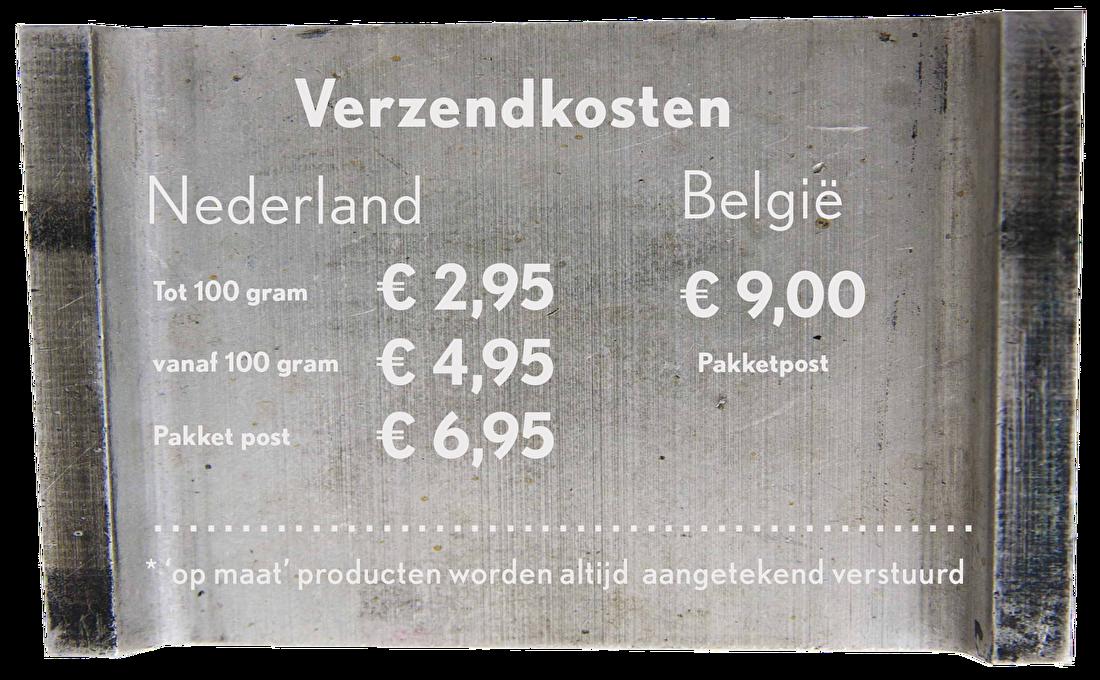 Verzenkosten letterpresss