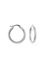 Silver special hoops