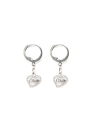 Silver bling love heart