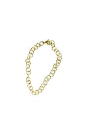 Golden round chain twisted bracelet