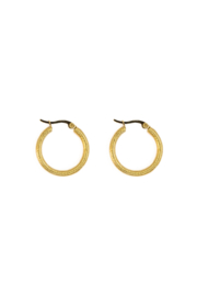 Golden modern hoops (25mm)