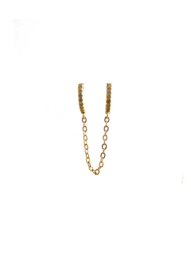 Golden dubble zirconia earring