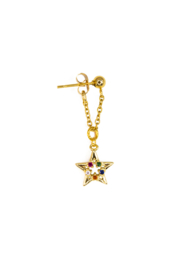 Golden color star chain