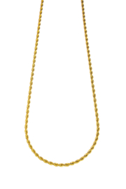 Golden big twisted chain