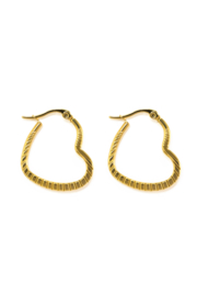 Golden heart hoops