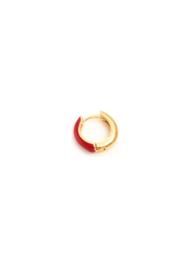 Golden red earring