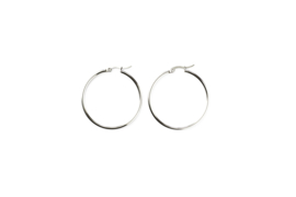 Silver basic hoops (40mm)