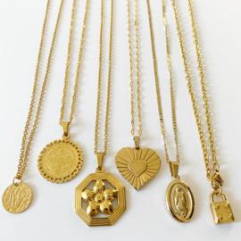 Golden Mary pendant