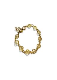 Golden clovers bracelet
