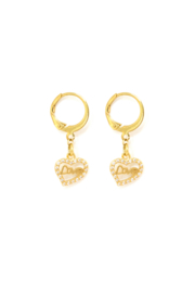 Golden bling love heart