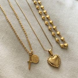 Golden Virgin Mary & Cross