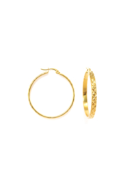 Golden textured hoops