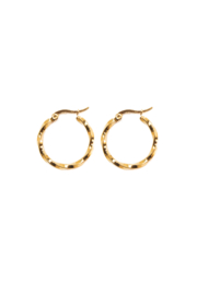 Golden turned hoops