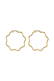 Golden flower hoops