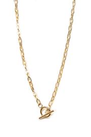 Golden big chain short