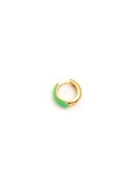 Golden green earring
