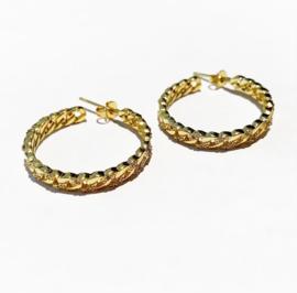 Golden zirconia hoops