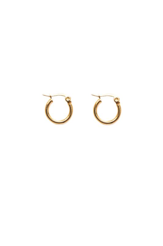 Golden basic hoops (15mm)