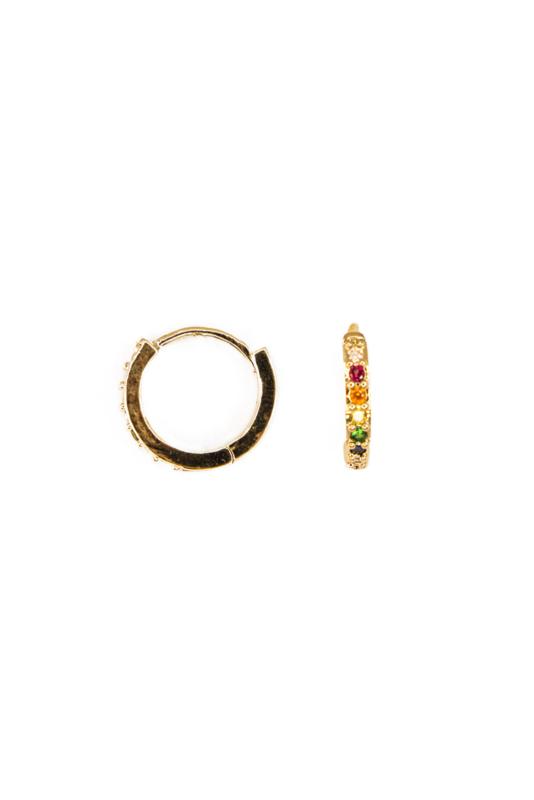 Golden bling color earring