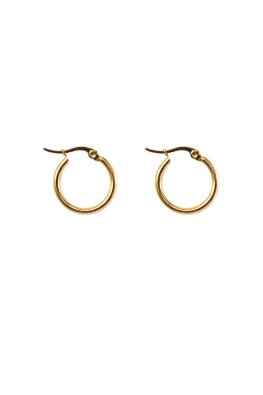 Golden basic hoops (20mm)