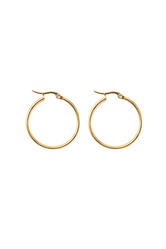 Golden basic hoops (30mm)