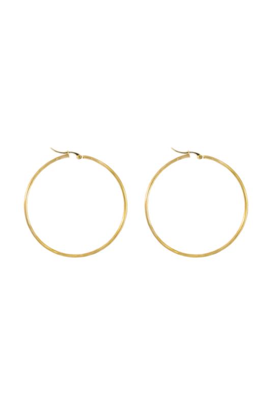 Golden basic hoops (40mm)