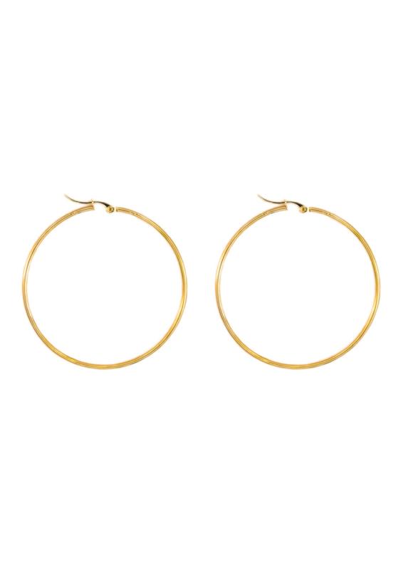 Golden basic hoops (50mm)