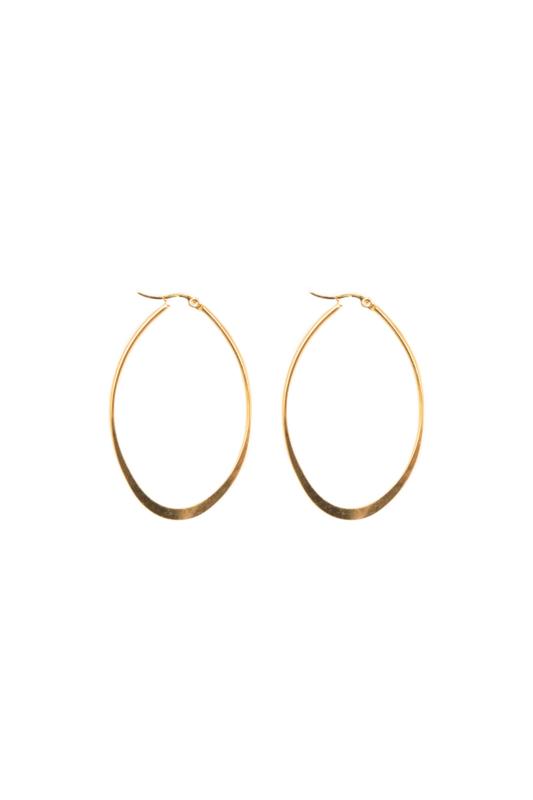 Golden oval hoops
