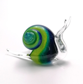 Slak in blauw/groen klein