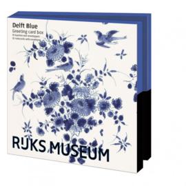 Rijksmuseum ,Delft Blauw, kaartenmapje vierkant