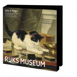 Rijksmuseum, cats&dogs, kaartenmapje vierkant