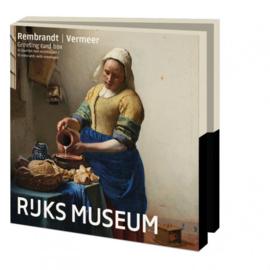 Rembrandt/Vermeer Rijksmuseum, kaartenmapje vierkant