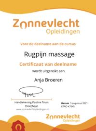Rugpijn massage