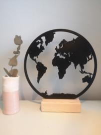 Wereldkaart rond - prijs vanaf