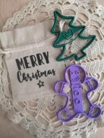 Cadeauzakje Merry Christmas
