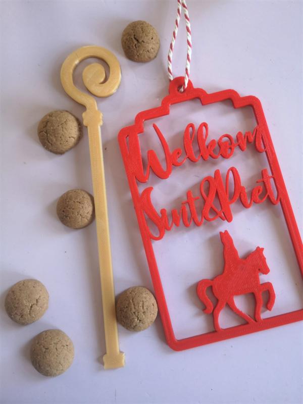 Sintlabel welkom