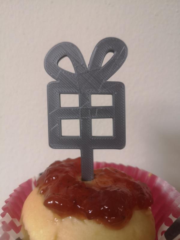 Cupcake topper cadeau