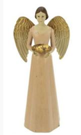 Engel Antique Roze met schaaltje
