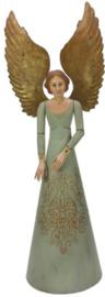 Engel conisch met gouden vleugels