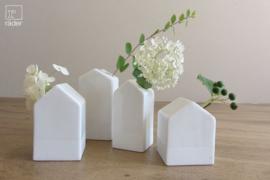Räder porseleinen vaasjes Little Garden House (Gartenhäuschen), setje van 4