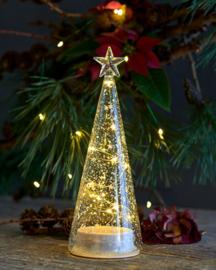 Mondgeblazen glazen boom met LED lampjes