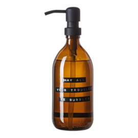 Handzeep bamboe 500ml 'may all your troubles be bubbles'