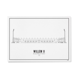 Koning Willem II stadion 21 x 30 cm