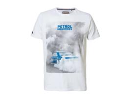 Petrol: Jongens Bright White T-shirt Met Auto