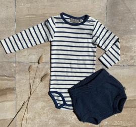 Wheat: Body Plain - Cool Blue- striped